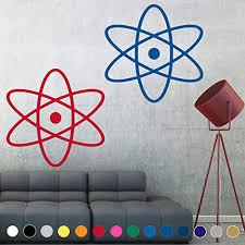 Amazon Com Many Sizes And Colors Atomic Symbol Atom Nerd Sign Symbol Science Logo Decal Sticker Vinyl Wall Art Living Play Room House Decor Kid Boy Girl Child Baby Bedroom Loft Window