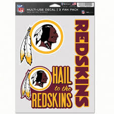 Washington Redskins Decal Multi Use Fan 3 Pack Caseys Distributing
