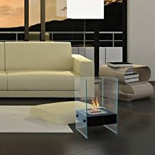 gel and bio ethanol fireplaces black