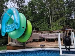 diy pool float storage with pvc pipes