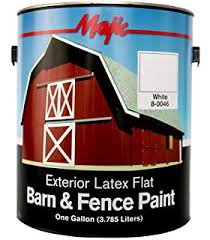 Valspar 3141 75 Barn And Fence Oil Based Paint 1 Gallon White Exterior House Paint Amazon Com