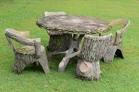 garden furniture a faux bois
