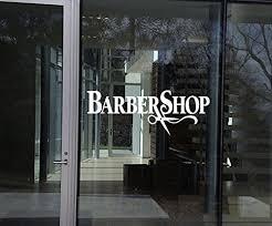 Amazon Com Wall Window Decal Sticker Barber Shop Man Salon Haircut Beard Face Tools Logo Salon 801b Baby