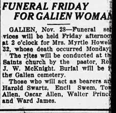 Obituary for Myrtle Howell (Aged 32) - Newspapers.com