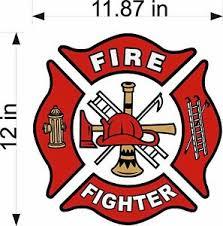 Fire Fighter Maltese Cross 12 Vinyl Vehicle Emergency Window Decal Sticker Ebay