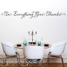 Give Thanks Wall Phrase Decal Thanksgiving Decor Simple Stencils