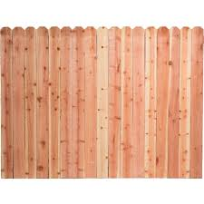 Mendocino Forest Products 6 Ft H X 8 Ft W Construction Common Redwood Dog Ear Fence Panel 07635 The Home Depot