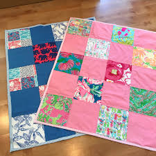 Lilly Pulitzer Fabric Baby Blanket