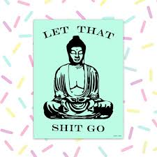 Buddha Sticker Vinyl Stickers For Laptop Car Decal Let That Etsy