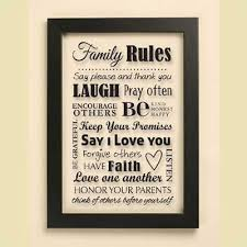 Family Rules Wall Hanging Christiangiftsplace Com Online Store Family Rules Framed Quotes Faith In Love