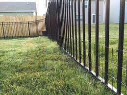 Diy Keep Small Dog In Yard With Welded Wire Aluminum Fence Addition Backyard Neophyte Landscaping Blog