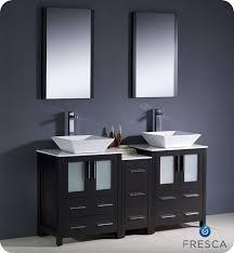 double vanity side cabinet vessel sink