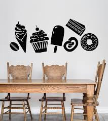 Vinyl Wall Decal Sweets Dessert Confection Ice Cream Stickers 3399ig Wallstickers4you