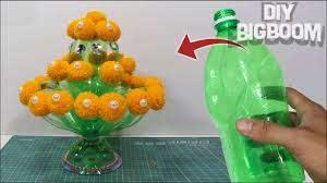 flower pot using plastic bottle dbb
