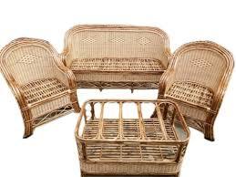 5 seater cane sofa set polished rs