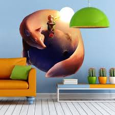 Shop Little Prince Fox Planet Full Color Wall Decal Sticker K 1224 Frst Size 40 X40 Overstock 21477194