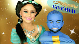 jasmine and genie costumeakeup