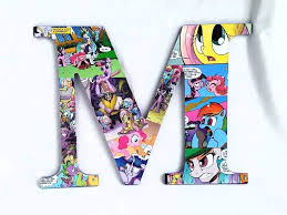 Amazon Com 9 5 Inch My Little Pony Wall Letters Wood Names Boys Room Girls Room Nursery Letters Decorative Letters Baby Letters Kids Room Customize Handmade