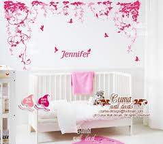 Baby Nursery Wall Decals Girl And Name Cuma Wall Decals