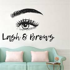 Beauty Salon Lashes Wall Sticker Long Eyelashes Wall Vinyl Decals Beauty Shop Decoration Home Design Mural Decor Wl1116 Wall Stickers Aliexpress