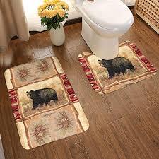 com omigge bathroom rug mat set