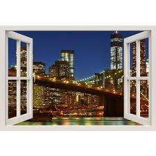 Window Frame Wall Sticker Window Film For Homes Window Frame Murals Decal Tagged New York Royalwallskins
