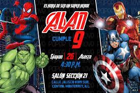 Invitacion Digital E Imprimible Avengers Super Heroes 75 00 En