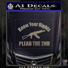 Know Your Rights Plead The 2nd Decal Sticker A1 Decals