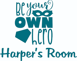 Be Your Own Hero Super Heroes Quote Customized Wall Decal Custom Vinyl Wall Art Personalized Name Baby Girls Boys Kids Bedroom Wall Decal Room Decor Wall Stickers Decoration Size