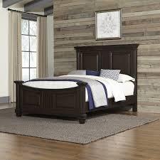 classic black oak queen bed prairie