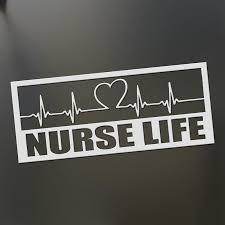 2020 Nurse Life Sticker Nursing Stethoscope Ekg Funny Scrubs Doctor Heart Decal From Xymy797 3 32 Dhgate Com