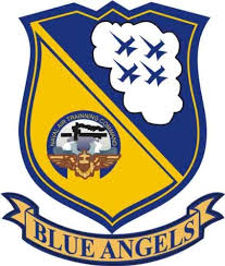 Amazon Com Militarybest Us Navy Blue Angels Decal Sticker 3 8 Automotive