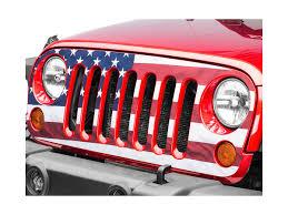 Sec10 Jeep Wrangler Full Color American Flag Grille Decal J105915 07 18 Jeep Wrangler Jk