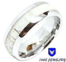deer ring antler ebony wedding bands