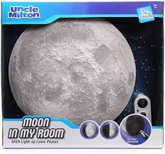 Amazon Com Moon In My Room Remote Control Wall Decor Night Light Uncle Milton Toys Games