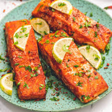 Easy Baked Salmon with Swet & Spicy Dry ...