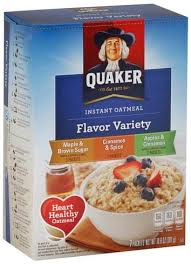 quaker instant flavor variety oatmeal