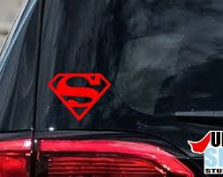Superman Decal Etsy