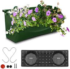 Garden Patio Baskets Pots Window Boxes Planter Flower Box For Railings Windows Balcony Fence Adjustable Hanger Red Mtmstudioclub Com