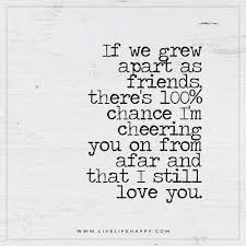 if we grew apart as friends there s a % chance growing apart