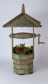 wishing well garden planter