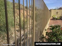 Snake Fence And Arizona Rattlesnake Prevention Fencing Installation Rattlesnake Solutions Llc Fence Rattlesnake Installation