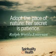ralph waldo emerson on the pace of nature spirituality health