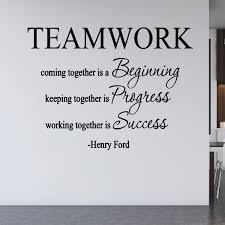 Vwaq Teamwork Coming Together Is A Beginning Wall Decal Henry Ford Quote Walmart Com Walmart Com
