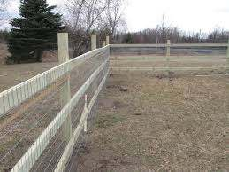 How To Build A Split Rail Wire Mesh Fence Keep Puppies In Pests Out