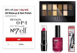 target cartwheel 20 off all makeup