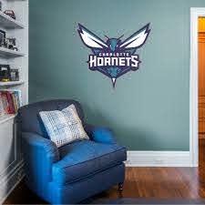 Fathead Charlotte Hornets Logo Giant Officially Licensed Nba Removable Wall Decal Walmart Com Walmart Com