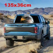Bald Eagle Usa American Flag Sticker Car Truck Rear Window Decal 135x36cm Ebay
