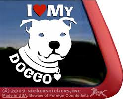 Bully Breed Dog Stickers Decals Nickerstickers