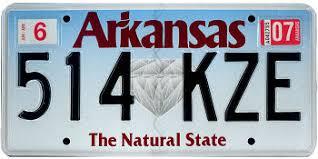 Vehicle Registration Plates Of Arkansas Wikipedia